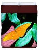 An Orange Butterfly Duvet Cover