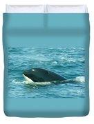 An Orca Surfaces  Duvet Cover
