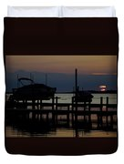 An Outer Anks Of North Carolina Sunset Duvet Cover