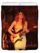 Guitarist Ana Popovic Duvet Cover