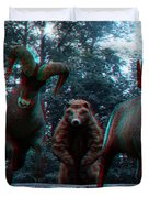 Anaglyph Wild Animals Duvet Cover
