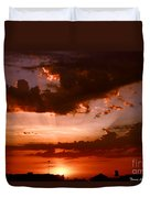 Anaheim Sunset Duvet Cover