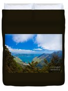 Anakoha Bay Of Marlborough Sounds In New Zealand Duvet Cover