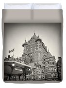 Analog Photography - Chateau Frontenac Quebec Duvet Cover