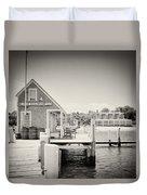 Analog Photography - Martha's Vineyard Black Dog Wharf Duvet Cover