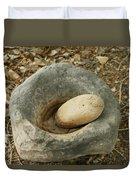 Anasazi Grinding Bowl Duvet Cover