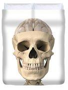 Anatomy Of Human Skull, Cutaway View Duvet Cover