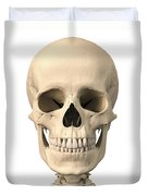 Anatomy Of Human Skull, Front View Duvet Cover