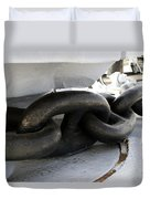 Anchor Chain 02 Queen Mary Ocean Liner Long Beach Ca Duvet Cover