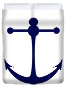 Anchor In Navy And White Duvet Cover