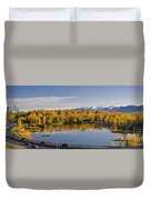 Anchorage And Westchester Pano Duvet Cover