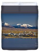 Anchorage Skyline And The Chugach Duvet Cover