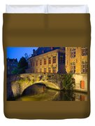 Ancient Bridge In Bruges  Duvet Cover