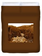 Ancient Brook - Sepia Tones Duvet Cover