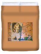 Ancient Cyprus Map And Aphrodite Duvet Cover