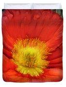 Ancient Flower 4 - Poppy Duvet Cover