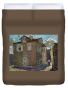 Ancient House In Perast Duvet Cover