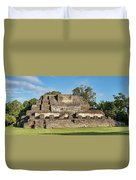 Ancient Mayan Ruins, Altun Ha, Belize Duvet Cover