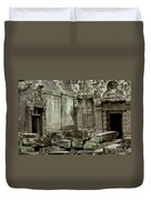 Ancient Ruins Cambodia Duvet Cover