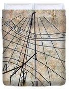 Ancient Sundial Duvet Cover