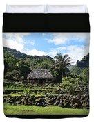 Ancient Taro Gardens In Kauai Duvet Cover