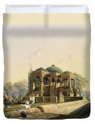 Ancient Temple At Hulwud, From Volume I Duvet Cover