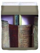 Ancient Torah Scrolls From Yemen  Duvet Cover
