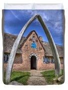 Ancient Whale's Jawbones Gate Duvet Cover