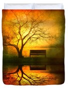 And I Will Wait For You Until The Sun Goes Down Duvet Cover by Tara Turner