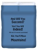 And Will You Succeed - Dr Seuss - Blue Duvet Cover