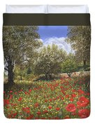 Andalucian Poppies Duvet Cover