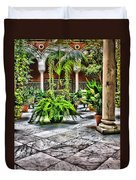 Andalusian Courtyard In Sevilla Spain Duvet Cover