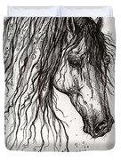 Andalusian Horse Drawing 2 Duvet Cover