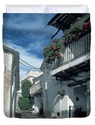 Andalusian White Village Duvet Cover
