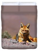Andean Fox Portrait Duvet Cover