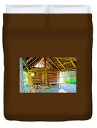 Andrew Berg's Homestead Cabin At Kenai National Wildlife Refuge In Soldotna-alaska Duvet Cover