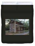 Andrew Logan Log Cabin Ninety Six National Historic Site Duvet Cover
