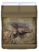 Anegada Ground Iguana - Houston Zoo Duvet Cover