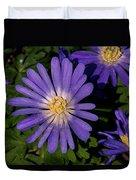 Anemone Blanda Blue Duvet Cover