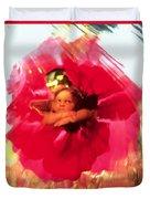 Angel And Poppy Duvet Cover by Katherine Fawssett