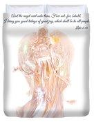 Angel Christmas Card Duvet Cover