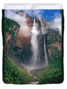 Angel Falls In Venezuela Duvet Cover