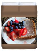 Angel Food And The Berries Duvet Cover