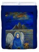 Angel From Eygpt Called Lapis Lazueli Duvet Cover