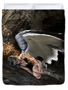 Angel- Give Your Worries To The Father Duvet Cover