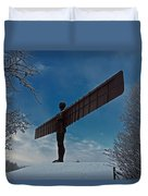 Angel In The Snow Duvet Cover