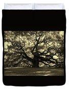 Angel Oak Tree Sepia Duvet Cover