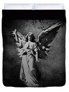 Angel Of Death Bw Duvet Cover
