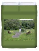 Angel Of Hope At The Putnam County Veteran Memorial Park Duvet Cover