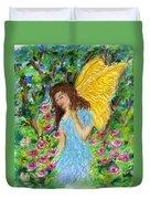Angel Of The Garden Duvet Cover